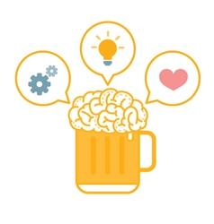 Brain Beer Ideas vector image