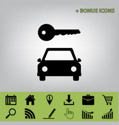 Car key simplistic sign black icon at vector