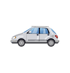 car side view auto insurance concept cartoon vector image