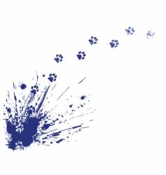 cat spill vector image vector image