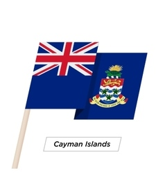 Cayman Islands Ribbon Waving Flag Isolated on vector