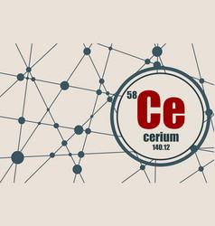 cerium chemical element vector image