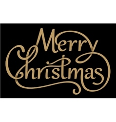 Christmas handdrawn lettering with shadows vector