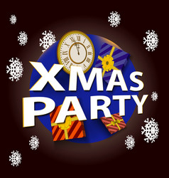 christmas party template vector image