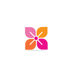 circle flower colored ornament logo vector image