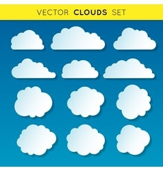 Clouds set 1 vector