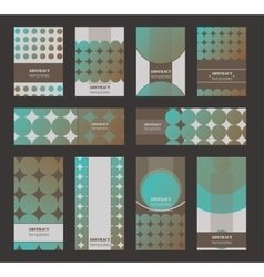 collection of vertical business cards and vector image
