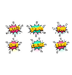 comic text speech bubble pop art style vector image