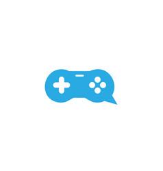 creative gamepad chat logo vector image