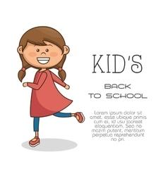 Cute little girl character vector