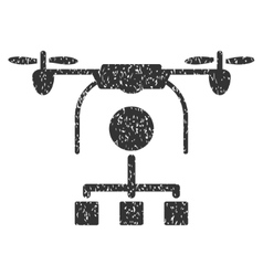 Drone Distribution Grainy Texture Icon vector image