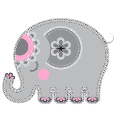 Fabric animal cutout Elephant vector image