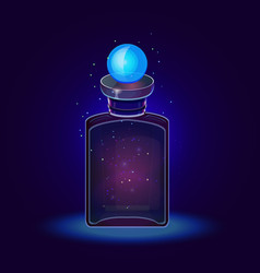 Fantasy magic moon bottle vector