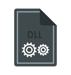 File DLL icon flat style vector image