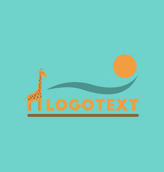 flat icon on background giraffe logo vector image