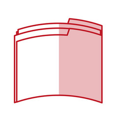 Flat line folder design vector