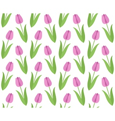 Floral pattern Tulip vector image