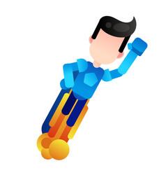 flying superhero business power vector image