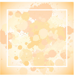 Frame template design with ink splashes vector