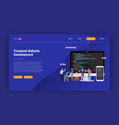 frontend website programming landing page vector image