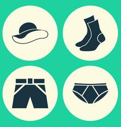 Garment icons set collection briefs half-hose vector