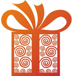 Gift present vector image