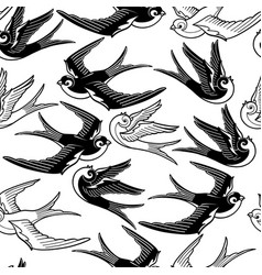 graphic flying birds vector image