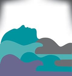 guitar landscape vector image
