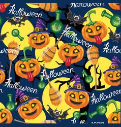 halloween pattern seamless pattern vector image