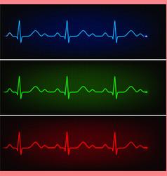 healthy cardiogram vector image