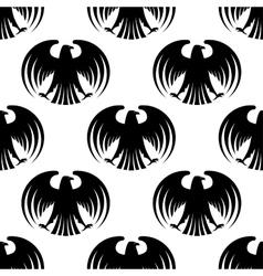 heraldic seamless pattern black eagles vector image