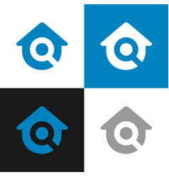 Home inspection logo template find house icon vector