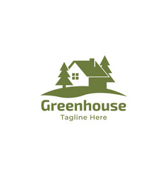 house with tree logo design vector image