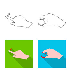 Isolated object of touchscreen and hand logo vector