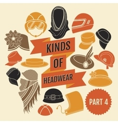 Kinds of headwear Part 3 vector