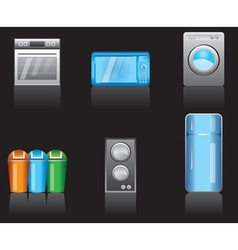 Kitchen equipment icons vector