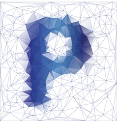 Letter P low poly vector
