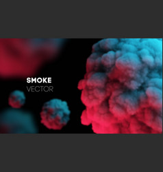 light colorful smoke background eps 10 vector image