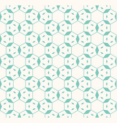 linear hexagonal grid geometric seamless pattern vector image