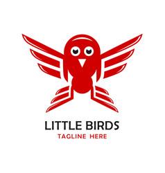 little birds logo four vector image