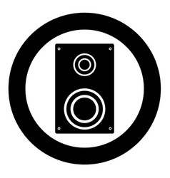 loud speaker icon black color in circle vector image