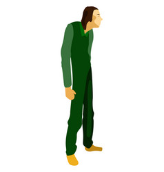 man in green on white background vector image
