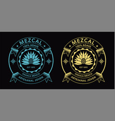 Mezcal spirit label vector