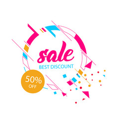 modern sale best discount 50 off circle frame bac vector image