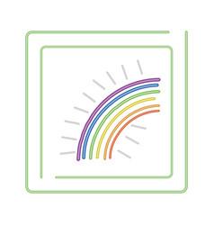 nature rainbow cartoon vector image