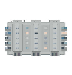One five-story eastern european building vector
