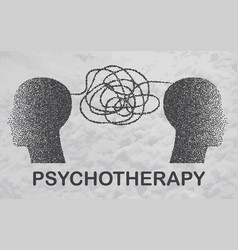 Psychotherapy practice psychological help vector