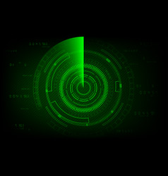 Radar scan concept abstract technology background vector