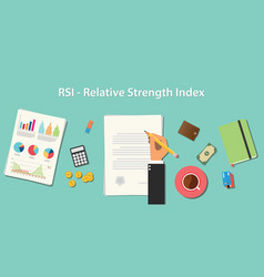 Rsi relative strength index business concept vector