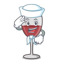 Sailor wine character cartoon style vector